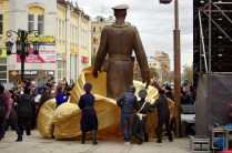 Uncle Styopa unveiling, Samara, 6 November 2015