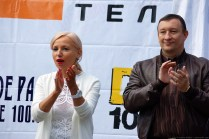 Irina Tsvetkova, Alexander Fetisov, Press Day, Samara, 28 May 2011